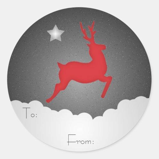 A Starry Night Gift Tag Round Sticker