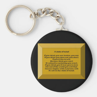 A State of Mind Key Chain