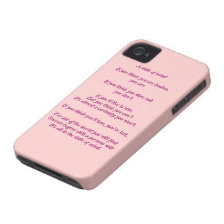 A State of Mind Poem Black Berry curve iPhone 4 Cover
