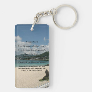 A State of Mind Poem keychain