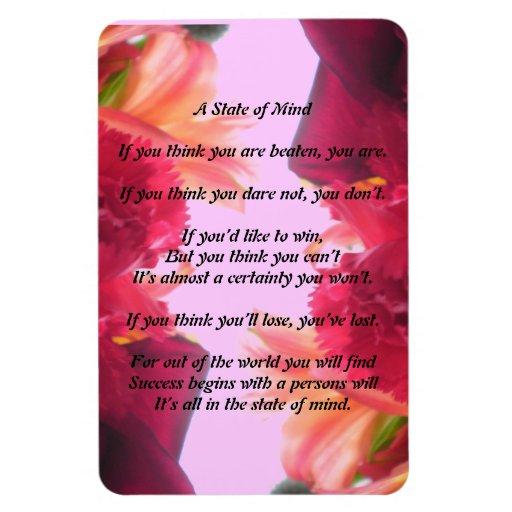 A State of Mind Poem Magnet