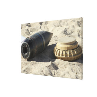 A static display of a converted ordnance shell stretched canvas print