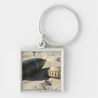 A static display of a converted ordnance shell keychain