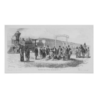 A Station in the Prairie: The 100th Meridian Poster