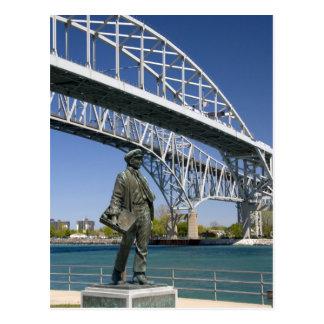 A statue of Thomas Edison by local artist Mino Postcard