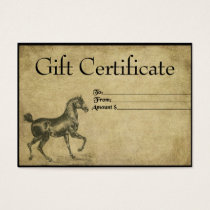 A Steady Steed- Prim Gift Certificate Cards