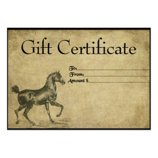 A Steady Steed- Prim Gift Certificate Cards Large Business Card
