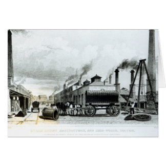 A Steam-Engine Manufactory and Iron Works Card