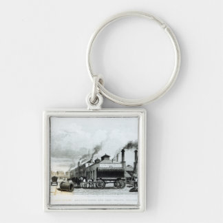 A Steam-Engine Manufactory and Iron Works Keychain