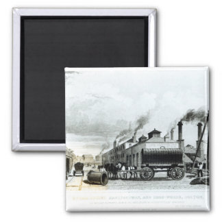 A Steam-Engine Manufactory and Iron Works Magnet