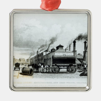A Steam-Engine Manufactory and Iron Works Christmas Ornament