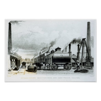 A Steam-Engine Manufactory and Iron Works Poster