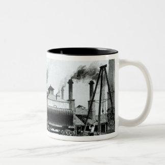 A Steam-Engine Manufactory and Iron Works Two-Tone Coffee Mug