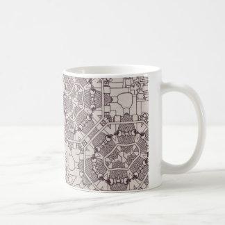A Steampunk Mandala Diagram Mugs