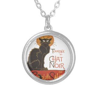 A Steinlen Cat Round Pendant Necklace