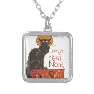 A Steinlen Cat Square Pendant Necklace