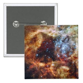 A stellar nursery known as R136 2 Inch Square Button