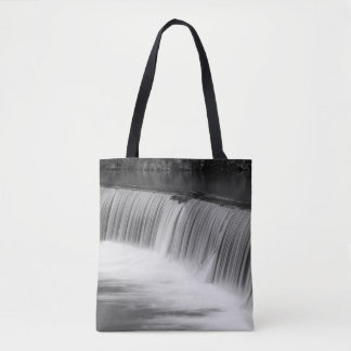 A Step Down Grayscale Tote Bag