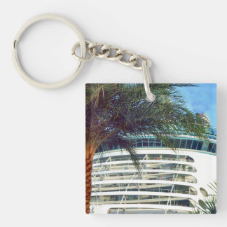 A Stern Aspect Double-Sided Square Acrylic Keychain