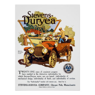 A Stevens Duryea Model AA Poster