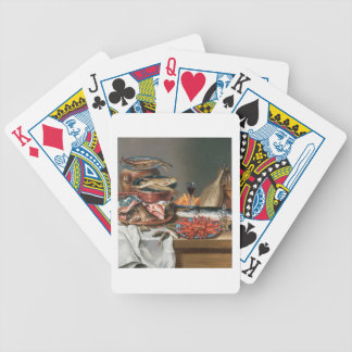A Still Life of a Fish, Trout and Baby Lobsters, 1 Bicycle Playing Cards