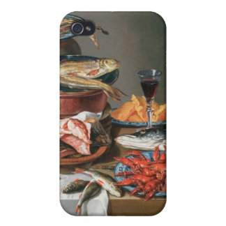 A Still Life of a Fish, Trout and Baby Lobsters, 1 Covers For iPhone 4