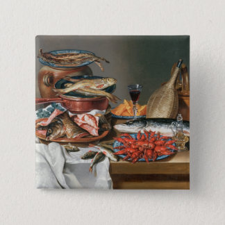 A Still Life of a Fish, Trout and Baby Lobsters, 1 Pinback Button