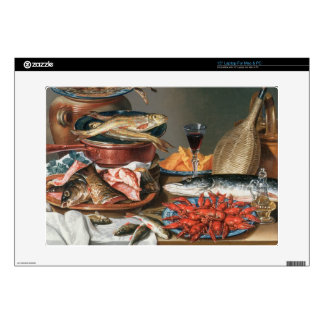 A Still Life of a Fish, Trout and Baby Lobsters, 1 Decal For Laptop