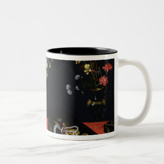 A Still Life of a Tazza with Flowers Two-Tone Coffee Mug