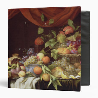A Still Life of Fruit on a Draped Ledge 3 Ring Binders