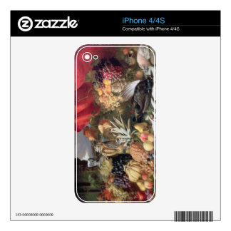 A Still Life of Game Birds and Numerous Fruits iPhone 4 Skins
