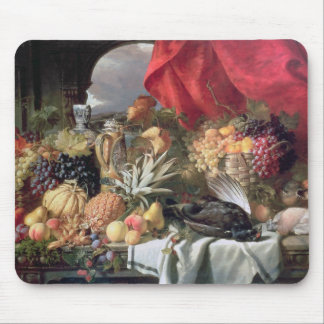 A Still Life of Game Birds and Numerous Fruits Mouse Pad