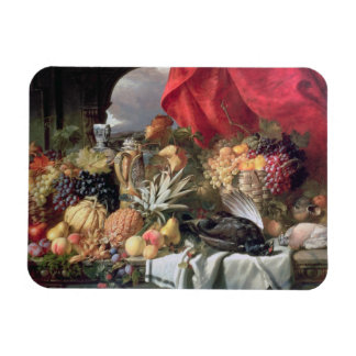 A Still Life of Game Birds and Numerous Fruits Rectangular Magnets