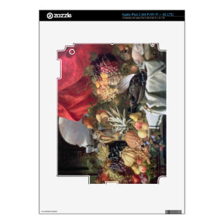 A Still Life of Game Birds and Numerous Fruits iPad 3 Decal