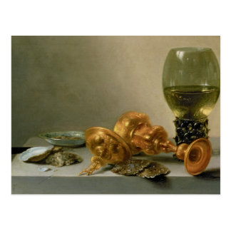 A Still Life with a Roemer and a Gilt Cup Postcard