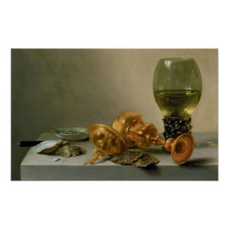 A Still Life with a Roemer and a Gilt Cup Poster