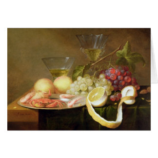 A still life with glasses card