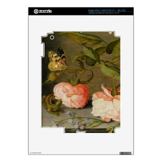 A Still Life with Roses on a Ledge iPad 3 Decal