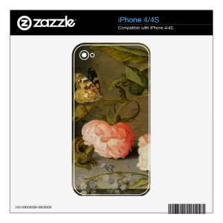 A Still Life with Roses on a Ledge iPhone 4S Decal