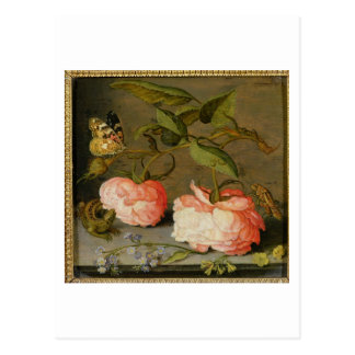 A Still Life with Roses on a Ledge Post Card