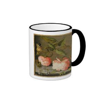 A Still Life with Roses on a Ledge Ringer Mug