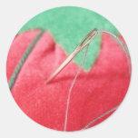 A Stitch In Time Classic Round Sticker