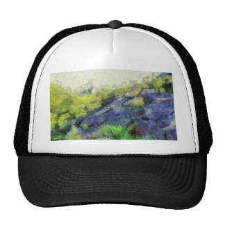 A stone horse trucker hat