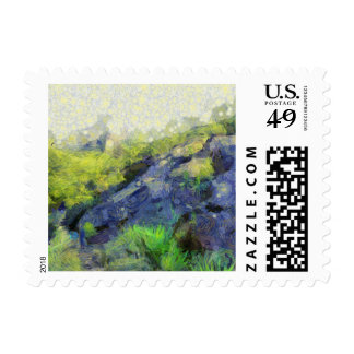 A stone horse postage stamp