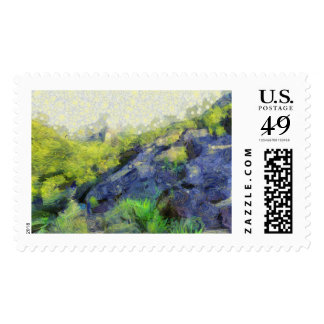 A stone horse postage stamps