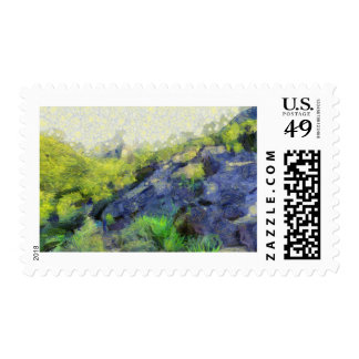 A stone horse stamps