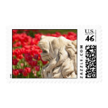 A Stone Lion Statue Postage