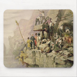 A Stone Quarry, 1833 (colour litho) Mouse Pad