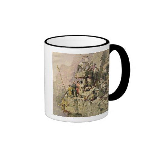 A Stone Quarry, 1833 (colour litho) Coffee Mugs