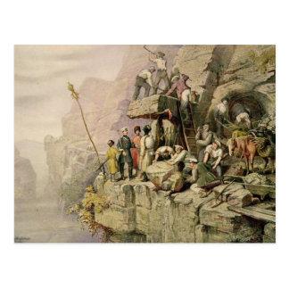 A Stone Quarry, 1833 (colour litho) Postcard